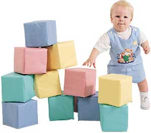 big soft foam building blocks giant oversized stackable soft tunnel climber toddler children's factory